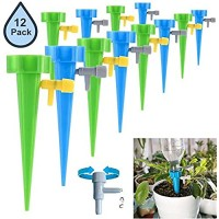 Plant Waterer Self Watering Spikes Plant Watering Devices with Slow Release Control Valve Switch Automatic Vacation Drip Watering Bulbs Globes Stakes System for Indoor & Outdoor Plants (12 Pack)