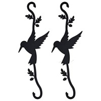 Humming Bird S-Hooks for Hanging Plants Outdoors – 2 pcs Decorative Hooks for Hanging – Gardening Plant Hooks for Indoor and Outdoor Use – Metal S-Shaped Hanging Hooks for Home Décor
