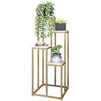 Plant Stand Flower Pots Shelf Flower racks Flower Stand Multi-layer Green Plant Stand Living Room Floor Type Flower Stand Balcony Creative Flower Table (Color : Gold Size : 100cm) Display Shelf Balco