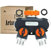 Artsmen Hose Splitter 2-Way with ON/OFF Plug Orange 1 piece