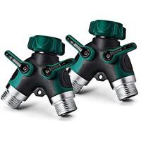 NEX Garden Hose Accessories-2 Way Y Hose Connector Hose Splitter(2-Pack)