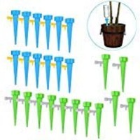 Freehawk Plant Waterer Automatic Self Watering SpikesSelf Irrigation Watering System Self Drip Irrigation with Slow Release Control Valve Switch for Potted Plants (24PCS)
