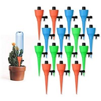 Sandman Crafts Plant Watering Spikes Self Watering Devices with Slow Release Control 15 Pack/Set Automatic Plant Waterer Self Irrigation Drip Devices for Potted Bottles for Plants Flower Vegetables