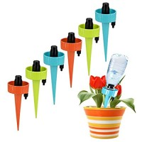 Self Watering Spikes Plant Watering Devices Plant Waterer Automatic Irrigation Spikes System with Slow Release Control Automatic Plant Irrigation System for Potted Plants Suitable for All Bottles(12)