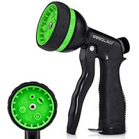 IRRIGLAD Garden Heavy Duty Hose Nozzle 7 Adjustable Spray Patterns Comfort Grip Water Hose Nozzle Gun for Watering Lawns Washing Cars and Pets