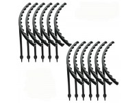 2Krmstr 12 Pcs Arcuated DIY Plant Support Stakes  Mini Plastic Garden Plant Support Rings Lodging-Resistant Climbing Garden Trellis for Cactus Potted Flower Plants