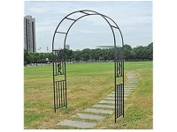 F-XW Large Metal Arbor Garden Arch Heavy Duty Strong Tubular Archways for Roses Climbing Plants Support Arbour