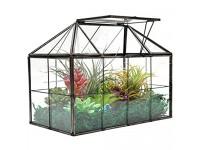 """XCMAN Large Tabletop Greenhouse House Shape Glass Terrarium – Succulent Plant Terrarium Clear Glass Terrarium 9.3""""X7.5""""X5.3"""""""