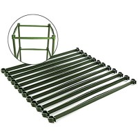 Firlar 12Pcs Tomato Trellis Connectors Stake Arms for Tomato Cage  11.8 Inches Plastic Trellis Connectors with 2 Buckle for Any 11mm Diameter Plant Stakes