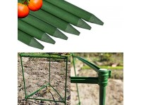 AXNG Tomato Cages for Garden Tomato Plant Support Stakes Tomatoes Cage Trellis Heavy Duty Easy to Assemble Fiberglass Green