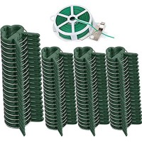 Medoore 80 Pcs Plant Support Clips Flower and Vine Clips Garden Tomato Plant Support Clips for Supporting Stems Vines Grow Upright