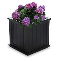 Mayne 4838-B Cape Cod Polyethylene Planter 20 x 20 Black