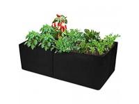CEED4U 2 Packs 2 x 4 Feet Fabric Raised Garden Bed  Raised Planting Bed Rectangular Garden Grow Bag Fabric Pots for Herbs Flowers Fruits Vegetables Plants