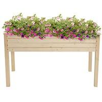Encory 48.83 x 22.44 x 29.92 Wooden Planting Frame Outdoor Raised Garden Bed Planter Use for Vegetables Grass Lawn Yard