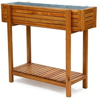 Raised Bed Planter - Planting Box - Bed Elevated Planter Set Growing Gardening Vegetables  Wooden