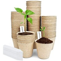 3'' Peat Pots for Seeding 80 Pack Seed Starter Pots Kits Biodegradable and Eco-Friendly Nursery Pots with Bonus 10 Labels