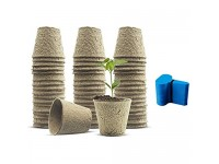 Biodegradable Peat Pots 3.15 inch Succulent Planter Nursery Pots 120 Pack Plant Seed Starter Pots Kit Planter Nursery Pots Transplant Seedlings Pots Seed Germination Trays with 50 Pcs Plant Labels