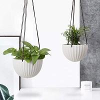 Ceramic Hanging Planter Succulent Pots with Drainge Indoor Flower Pots for Plants